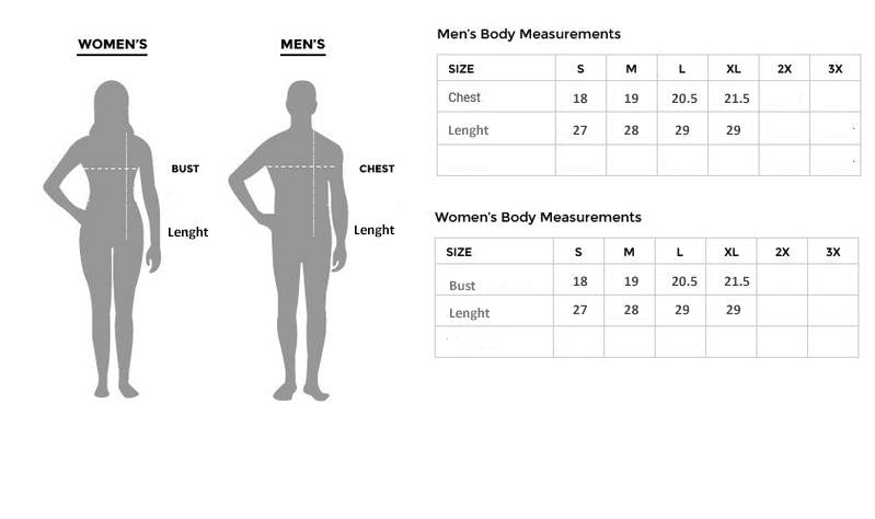 Size Chart of Tshirt, Pants, Clothing in Pakistan