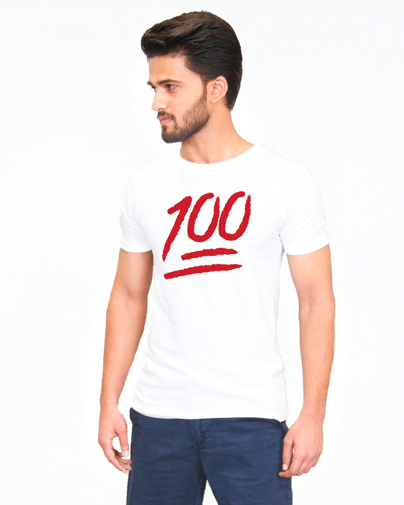 100 Emoji White - T-Shirt for Men