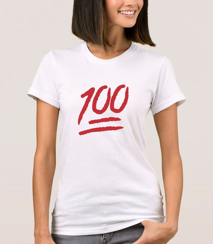 100 Emoji White - T-Shirt for Women