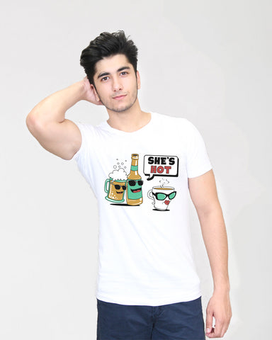 Shes Hot - T-Shirt for Men