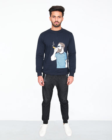 Smoker Blue Sweatshirt