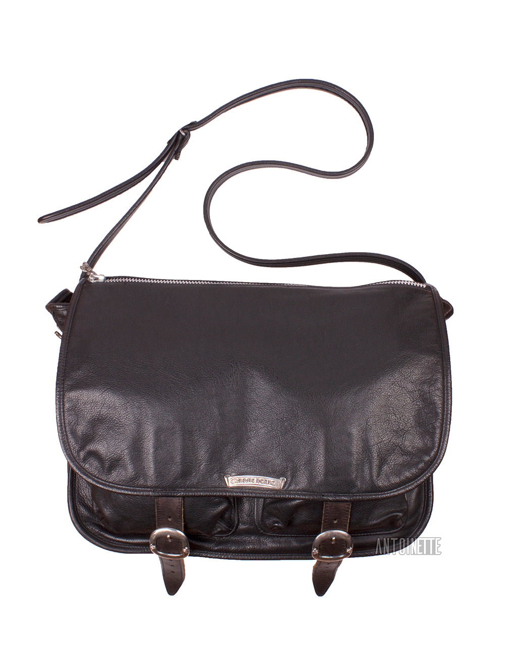 b0f65788f700 Chrome Hearts Black Leather Shoulder Bag – Antoinette Boutique