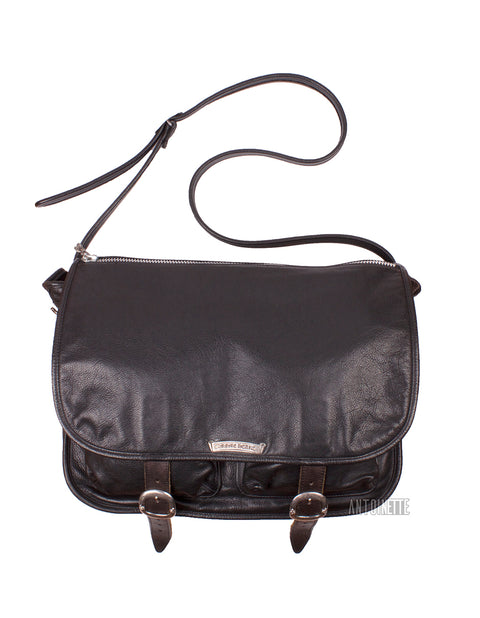 Chrome Hearts Black Leather Shoulder Bag