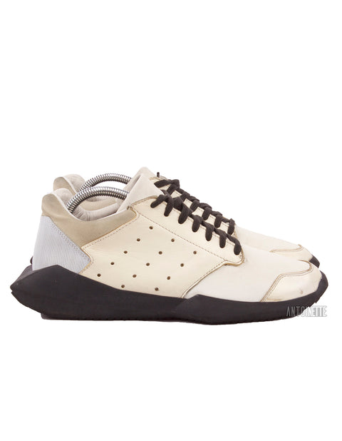 Rick Owens White Tech Runner Sneakers