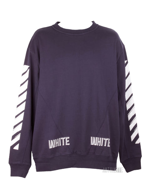 Off-White Navy 3D Crewneck Sweater