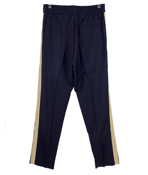 Navy Comfy Side Stripe Trousers