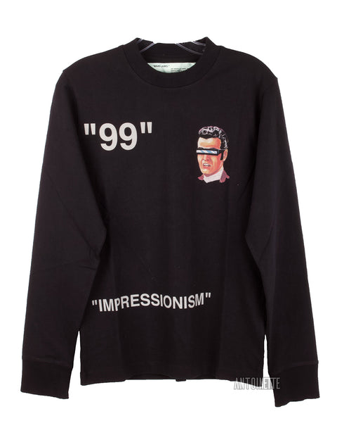 Off-White Green Witch Impressionism Long-Sleeve