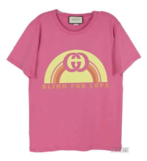 Gucci Pink Blind For Love T-Shirt