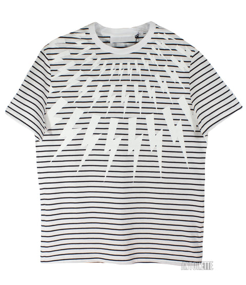 Neil Barrett Stripe Lighting Bolt T-Shirt