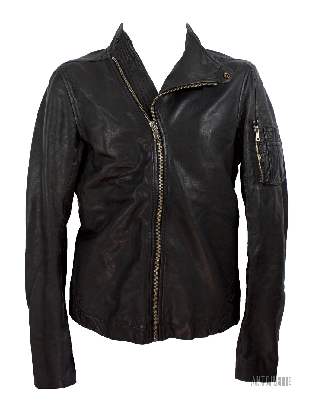 Rick Owens Black Globa Leather Jacket