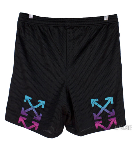 Off-White Black Gradient Mesh Shorts