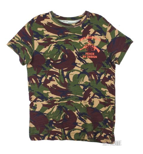 Off-White Camouflage Peace By Design T-Shirt