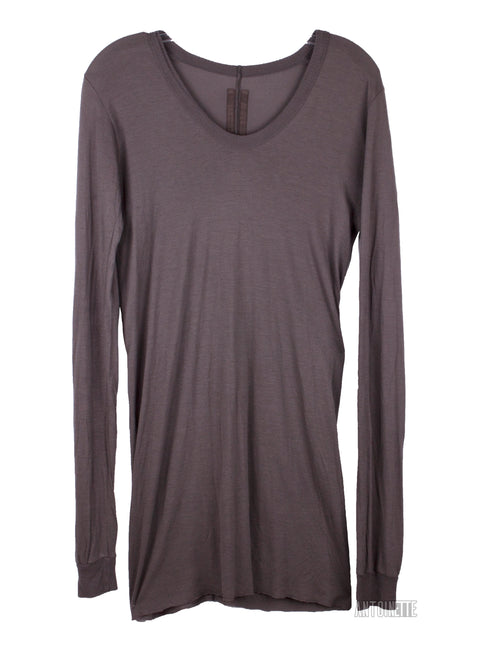 Rick Owens Grey Long-Sleeve Shirt