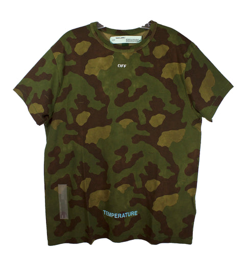 Off-White Camouflage Arrow Temperature T-Shirt