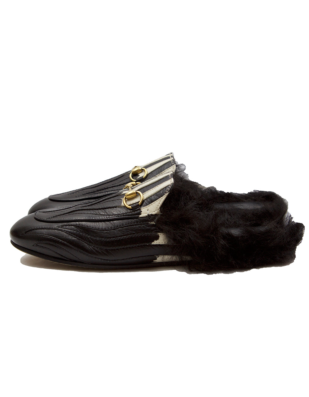 5c9fc53e1a8 Gucci Black Leather Flames Princetown Slippers – Antoinette Boutique