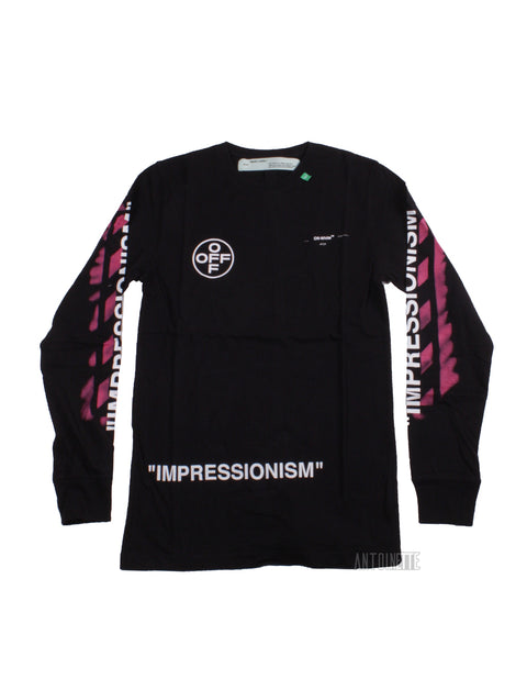 Off-White Black Long Sleeve Diag Stencil Shirt