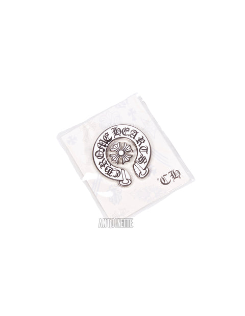 Chrome Hearts White/Black Horseshoe Pin