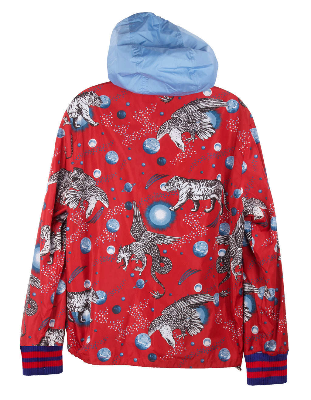 Gucci Red Space & Animals Rain Jacket