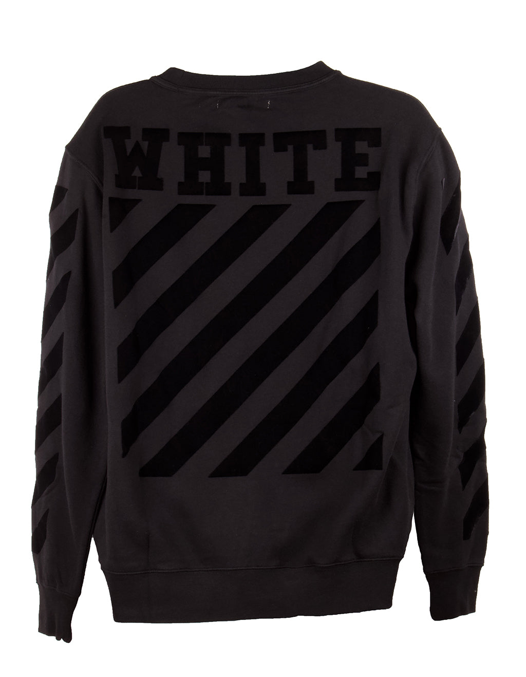 Off-White Black Two-Tone Crewneck Sweater