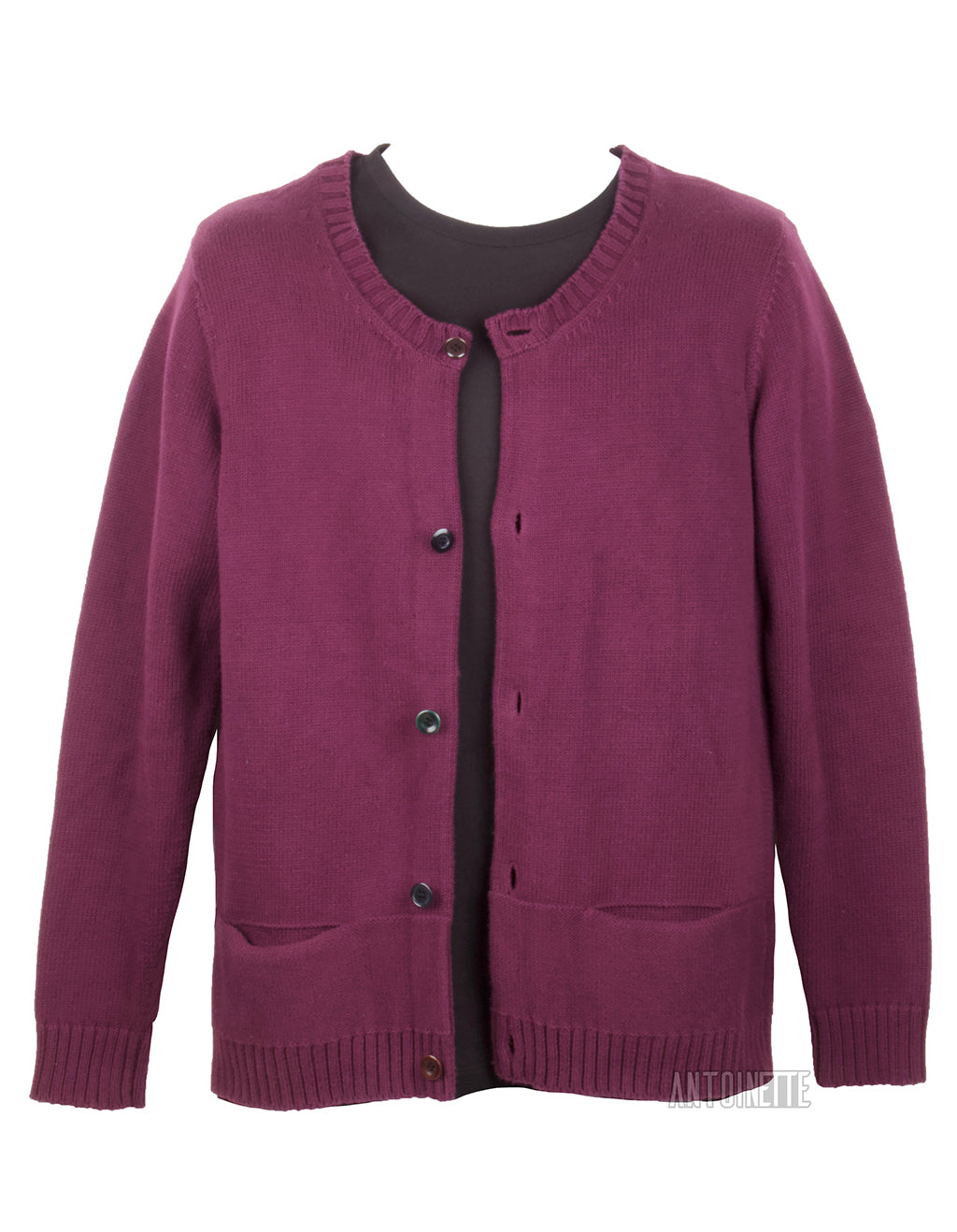 af942221494 Undercover Maroon Thick Cardigan Sweater - Antoinette Boutique