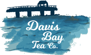 Davis Bay Pier with brand logo on water