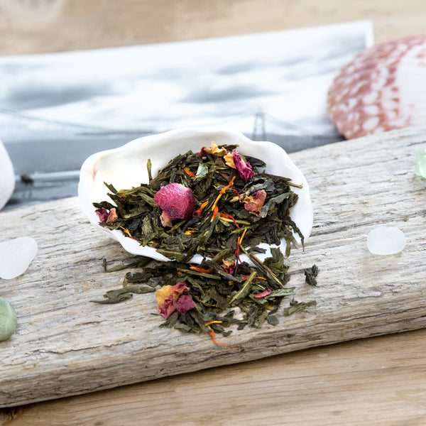 Cranberry Rose Sencha Green Tea