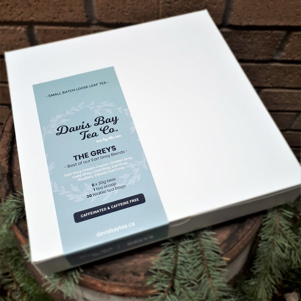 "Tea Gift Box - ""The Greys"" Best of our Earl Grey Blends"
