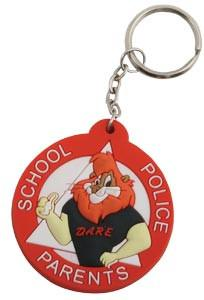 Daren Rubberized Keychain. Packs of 25