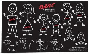 Stick Figure Decal Sheet