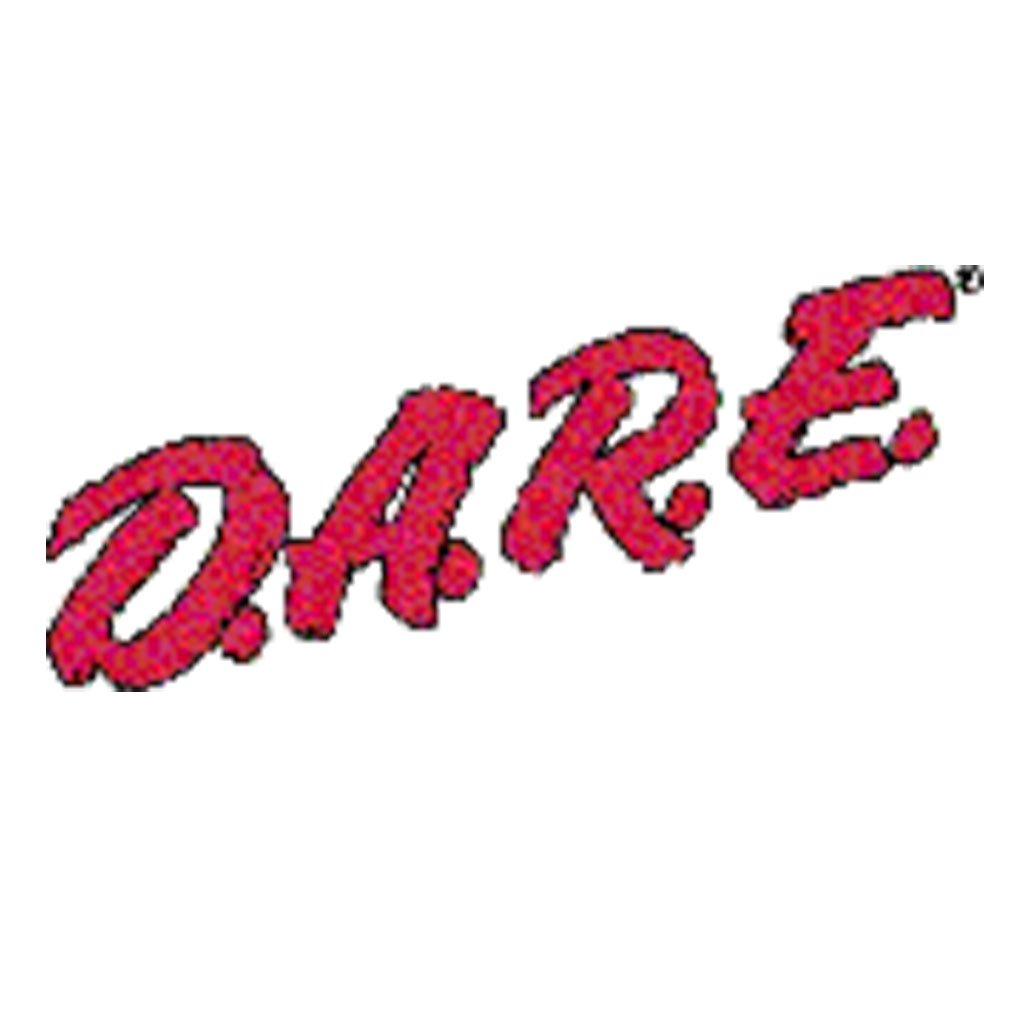 Red DARE Vinyl Decal - Black Outline - Jagged
