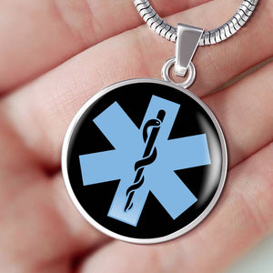 EMS Symbol Silver Necklace