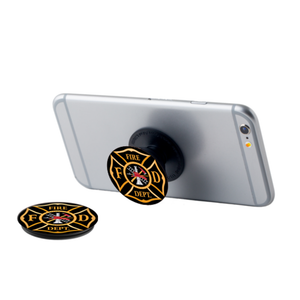 Maltese Cross Pop Up Phone Grip -Black & Orange