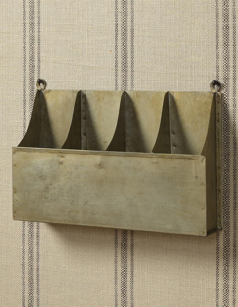 Aged Metal Wall Mounted Bottle Rack