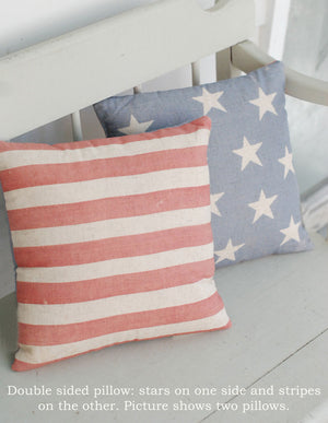 American Flag Stars and Stripe Pillow