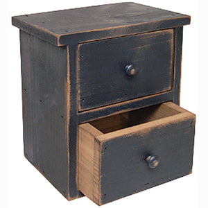 "Our Antique Black Tabletop Drawers will quickly become a farmhouse favorite. Keep one on the kitchen counter to stash away tea bags, or use in an entryway to keep keys tucked out of sight. It's perfect for craft or office supplies, jewelry and more. These sturdy wood drawers feature a beautifully aged and distressed finish. 7.5""L x 5.5""W x 8.5""H  Made in the USA"