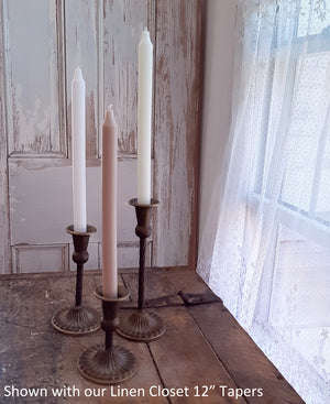 Antiqued Brass Style Taper Candle Holders