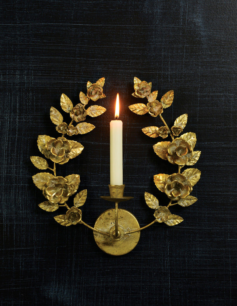 Antoinette Taper Wall Sconce - Antique Gold