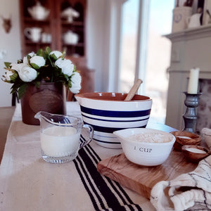 French Farmhouse Batter Bowl with Whisk