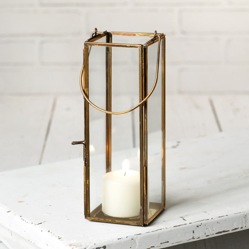 Camden Antique Brass Lantern
