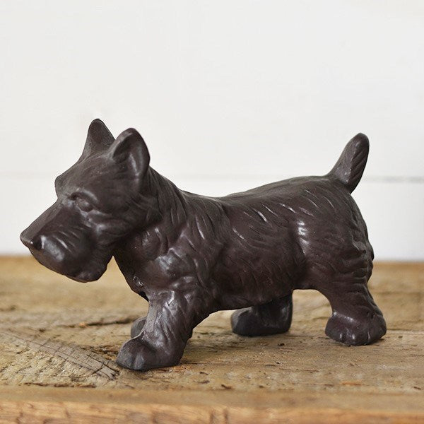 Our Cast Iron Terrier is ready to adorn any desk or shelf. This sweet terrier statue makes a winning presentation and lends a vintage feel to any room.