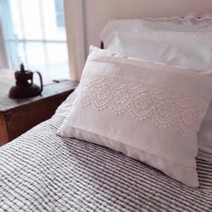 Cottage Lace Accent Pillow