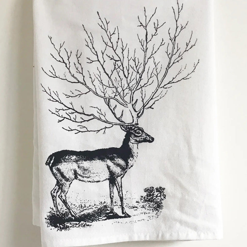 Deer Tree Kitchen Towel