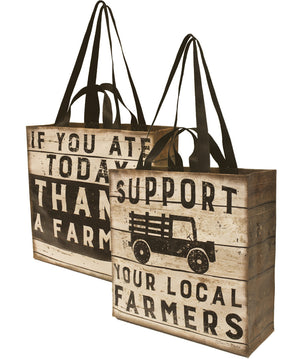 Farmer's Market Tote, Double Sided