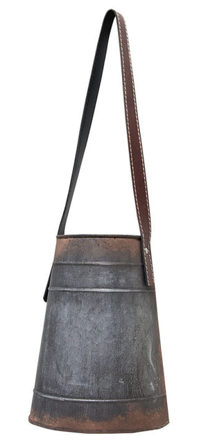 Galvanized Hanging Bucket with Strap