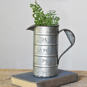 Galvanized Tin Measuring Pitcher