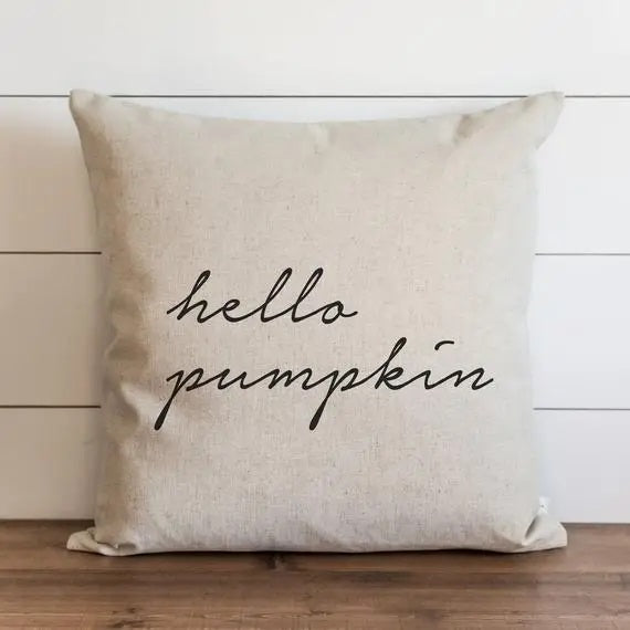 This Hello Pumpkin Linen Pillow Cover adds graceful, fresh and elegant style to your farmhouse. Custom designed and handcrafted in the USA from the highest quality materials. The warm oatmeal cotton/linen blend adds rustic, elegance to any room. Made in the USA