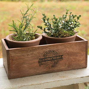 Herb Box with Pots
