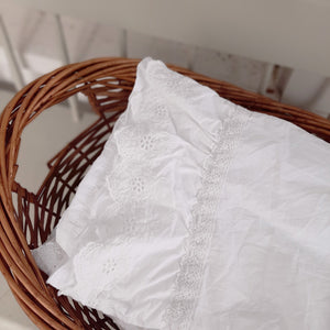 Eyelet and Ruffles  Pillow Sham