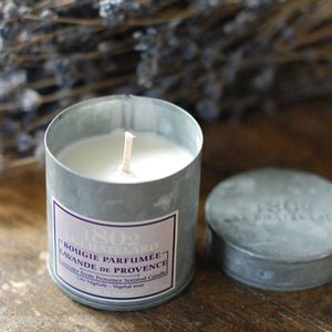 French Lavender Candle In Metal Tin