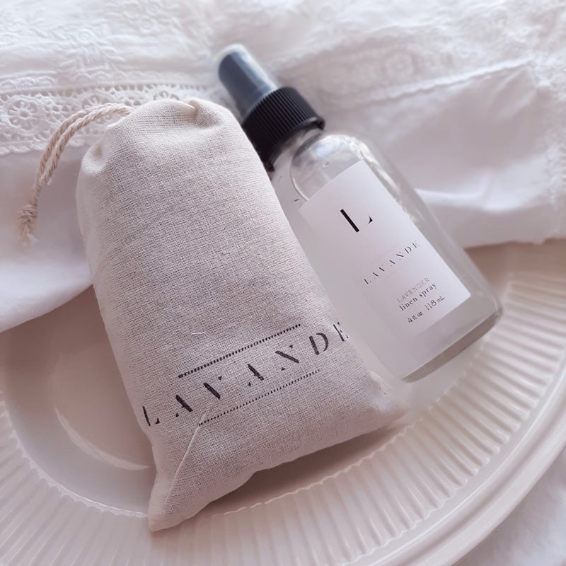 Lavender Sachet and Linen Spray Set